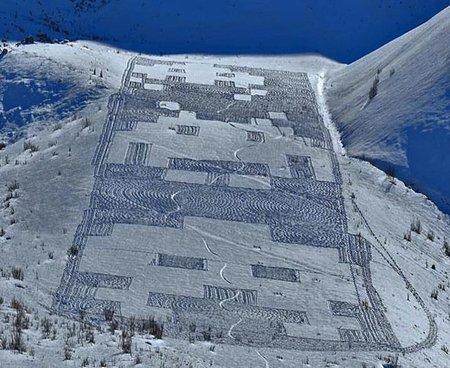 Los extraterrestres de 'Space Invaders' conquistan los Alpes