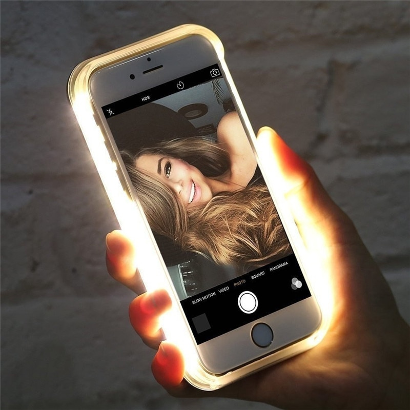 Flash LED para iPhone X XS X MAX XR 8 7 Selfie luz 11 Pro 6 6s Plus 5 5S.