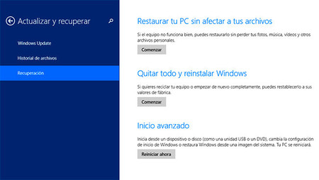Cómo reestablecer un equipo Windows a la configuración inicial de fábrica