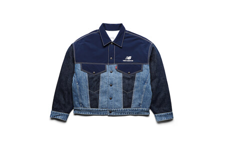 Levi S X New Balance Men S Indigo Reversible Trucker Jacket