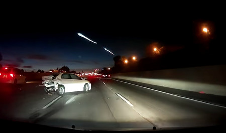 Video: El SpaceX de Elon Musk ocasionó una carambola en Los Ángeles