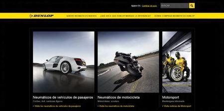 Elige el neumático que más se adapta a tus prestaciones en la Web de Dunlop