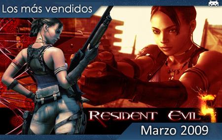 Los juegos más vendidos en España - Marzo 2009