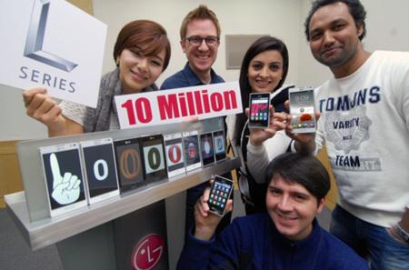 LG L-series ventas de 10 millones de unidades