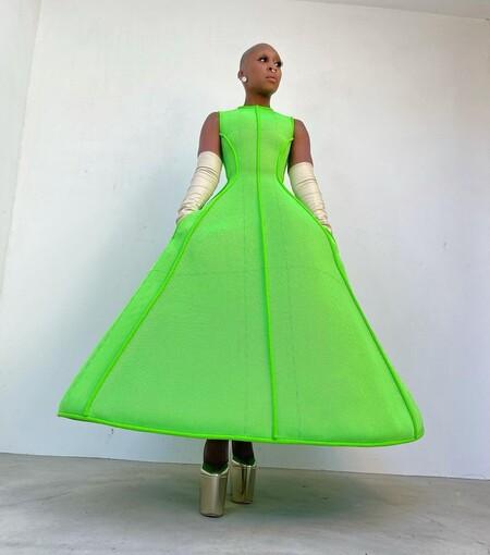 Cynthia Erivo Valentino Alta Costura Golden Globes 2021