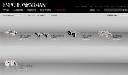 Gemelos Armani, el regalo perfecto para él