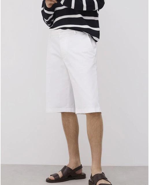 Bermudas de hombre regular en color blanco
