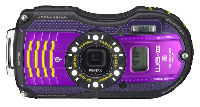 Pentax WG-3 GPS en color púrpura