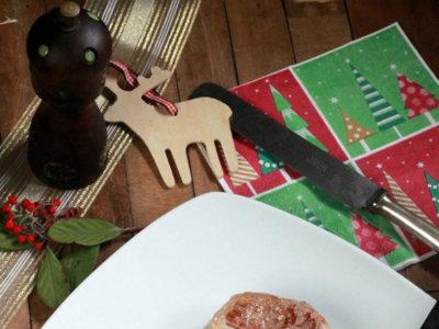 Tournedós de pierna de cordero a la parrilla. Receta de Navidad