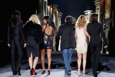 Las Spice girls en el desfile de Roberto Cavalli Menswear