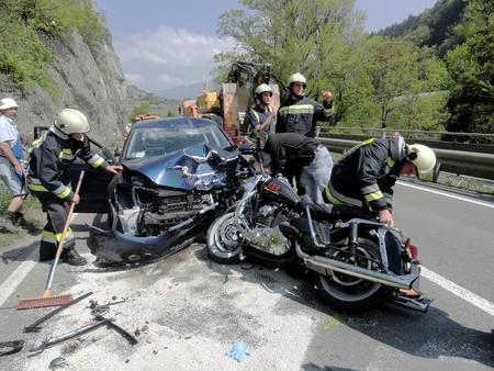 Accidente Moto Coche