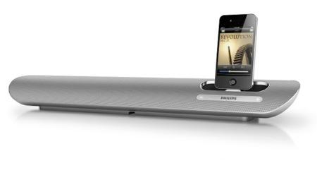 Philips DS6100, la barra de sonido con dock para iPod e iPhone