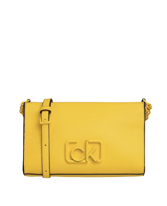 Bandolera pequeña de mujer Calvin Klein en amarillo con cremallera