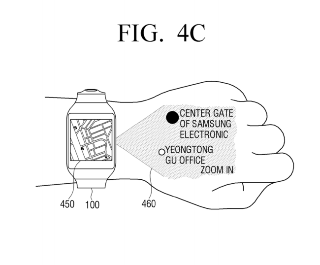 Samsung Patent Numpad Projection Hand 7