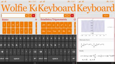 Wolfie Keyboard permite usar Wolfram Alpha de forma sencilla en Windows Phone. La aplicación de la semana