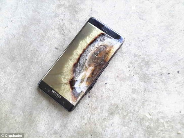 Galaxy Note 7 incendio
