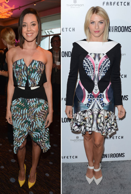 Aubrey Plaza Julianne Hough Peter Pilotto