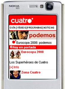 Cuatro lanza su web móvil