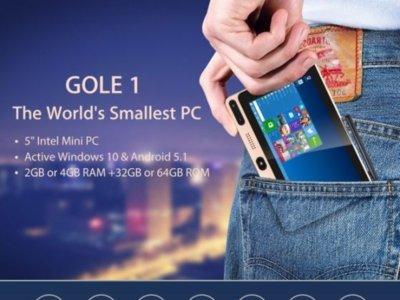 Windows 10 y Android conviven en GOLE1, un ordenador de bolsillo con pantalla táctil