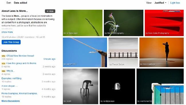 Flickr mejora sus grupos: añade las vistas justificadas y facilita publicar fotos en ellos