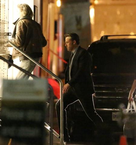 Otra imagen de Ben Affleck en el rodaje de Suicide Squad