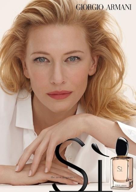 """Cate Blanchett presta su rostro para """"Sì"""", la nueva fragancia de Giorgio Armani"""