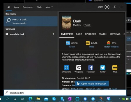 Windows 10 Search Results Appear With Dark Theme 1024x798