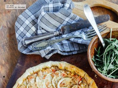 Tarta de atún y mostaza. Receta fácil