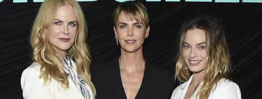 Nicole Kidman, Charlize Theron and Margot Robbie opt for the sobriety of black and white for the special Bombshell pass