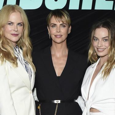 Nicole Kidman, Charlize Theron y Margot Robbie se decantan por la sobriedad del blanco y negro para el pase especial de Bombshell