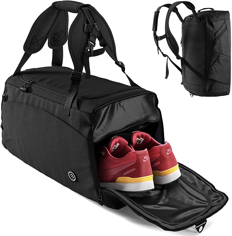 Bolsa Deporte Fitness + Mochila Función y Compartimento para Zapatos.