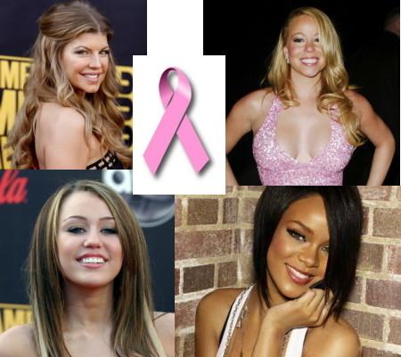 Mariah, Beyonce, Miley, Fergie... todas contra el cáncer de mama