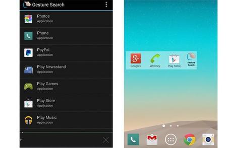 Google Gesture Search se actualiza, añade un nuevo widget y mejora su interfaz