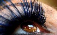 Pestañas postizas bicolor, azul y negro