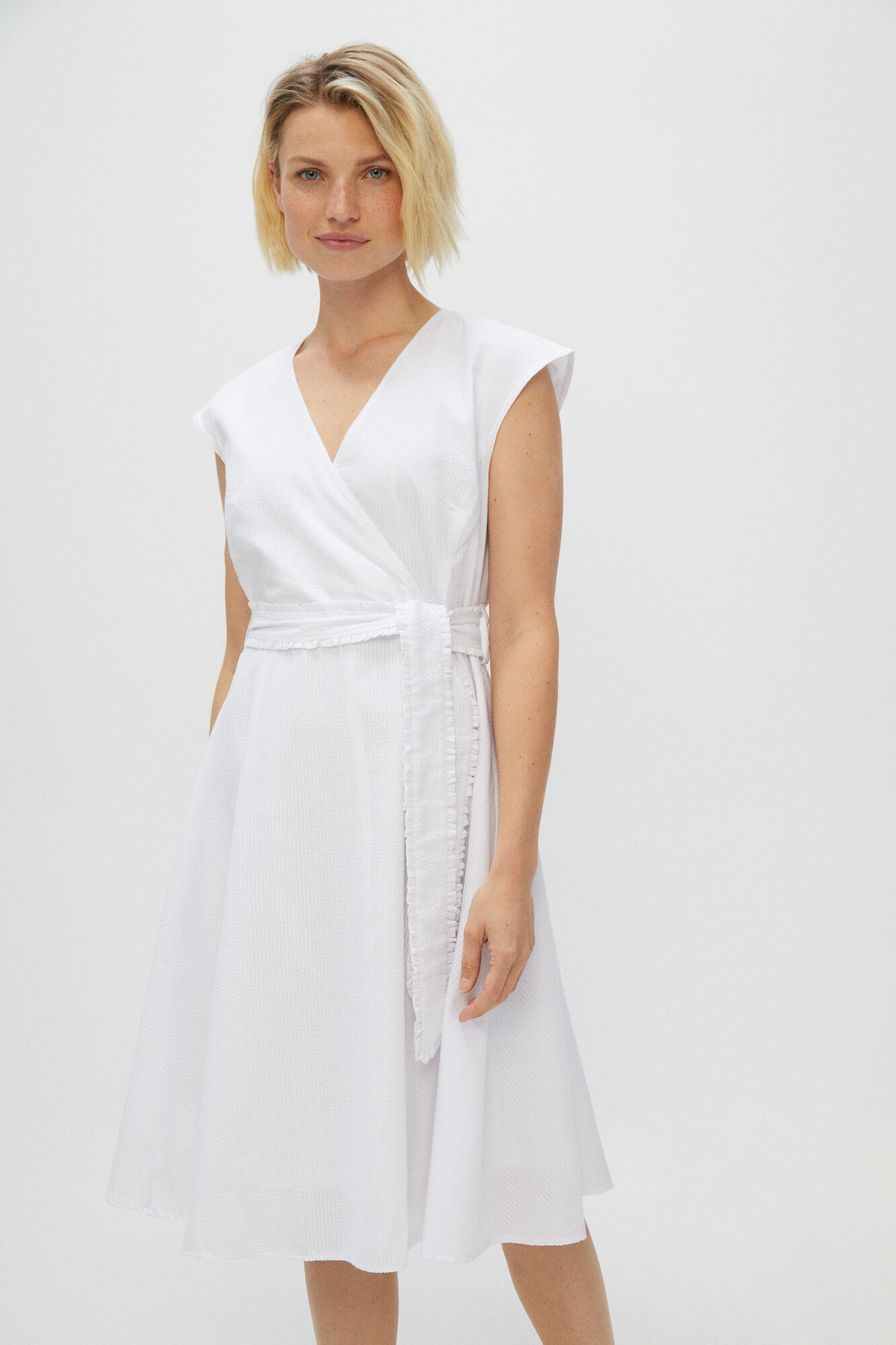 Vestido blanco manga corta