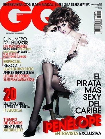 Penélope Cruz, portada de la revista GQ en España