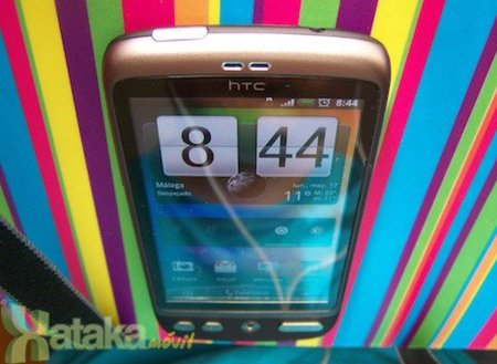 HTC Desire ángulo superior