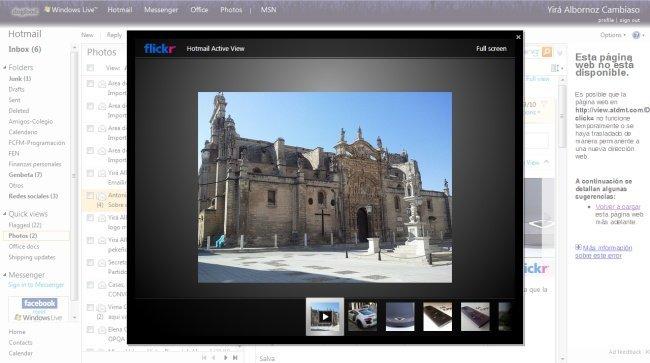 Nuevo Hotmail, con integración con Flickr