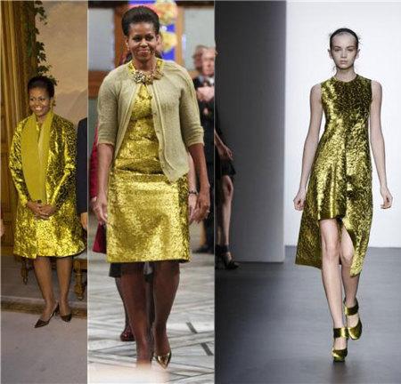 Michelle Obama de Calvin Klein