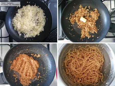 Preparacion Spaghetti Con Salsa Anchoas