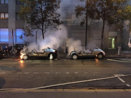 Autolib Bollore Incendio