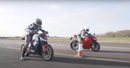 ¡Pura adrenalina! Este vídeo nos muestra una titánica carrera de aceleración entre una Ducati Panigale V4 y una Honda CB1000R