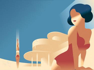 Ilustraciones Art Déco, por Mads Berg