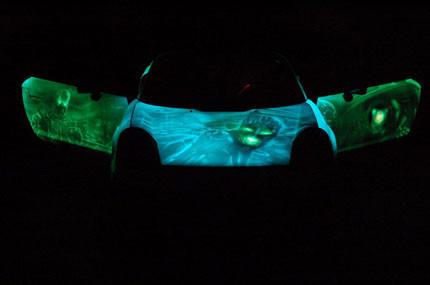 Toyota MR-2 fluorescente