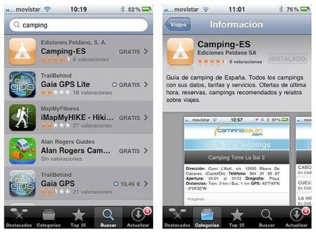 Camping-ES, la aplicación para los amantes de las acampadas