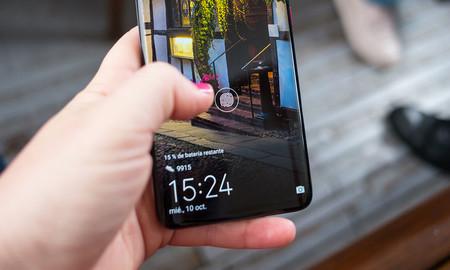 Lector de huellas en la monitor del Huawei™ Mate veinte Pro