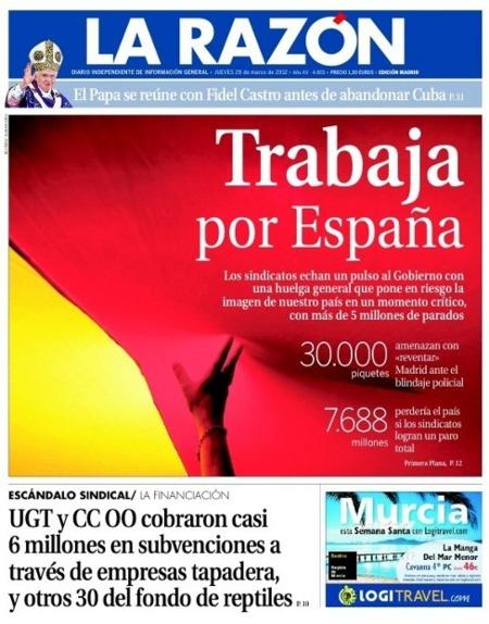 #huelga29M en la red: de Willy Toledo a La Razón, pasando por las hogueras (#porestoquierescobrar)