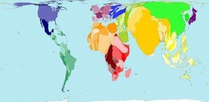Worldmapper, mira el mundo de manera diferente