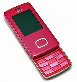 LG KG800 Chocolate en color rosa