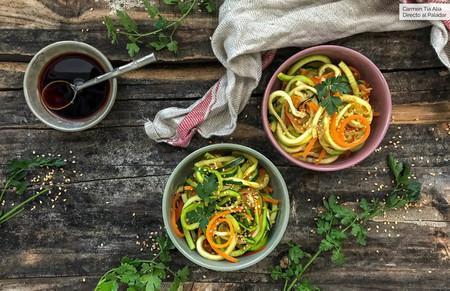 Wok De Fideos De Calabacin Con Verduras
